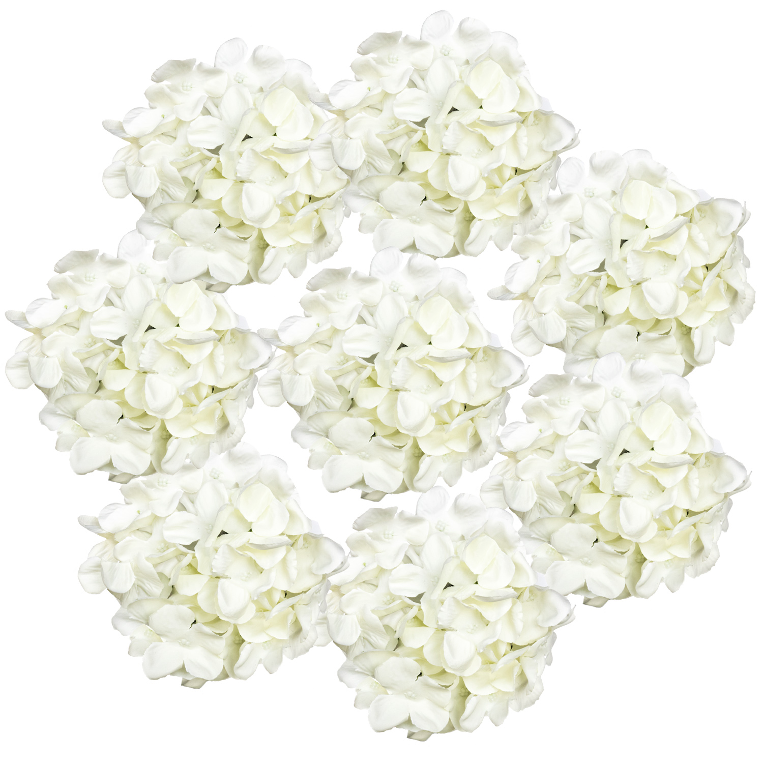 Ivory Artificial Hydrangea Heads Fisch Floral Supply
